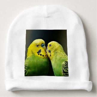 Kissing Budgie Parrot Bird Baby Beanie
