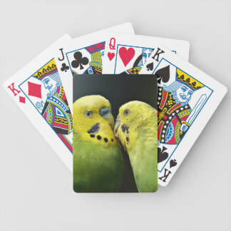 Kissing Budgie Parrot Bird Bicycle Playing Cards