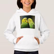 Kissing Budgie Parrot Bird Hoodie