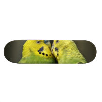 Kissing Budgie Skateboard Deck