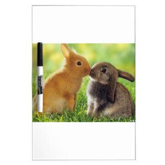 Kissing Bunnies Dry Erase Board