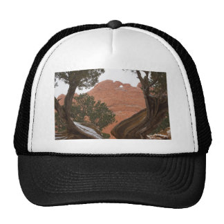 Kissing Camels Framed by Tree 02 Trucker Hat