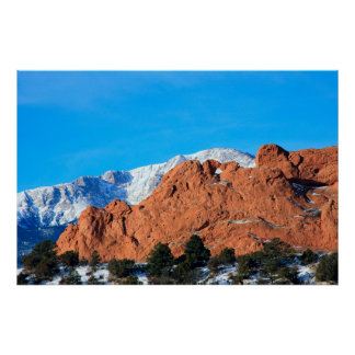 Kissing Camels in Garden of the Gods Park Poster