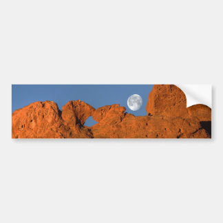 Kissing Camels Rock Formation with Full Moon Bumper Sticker