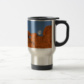 Kissing Camels Rock Formation with Full Moon Travel Mug