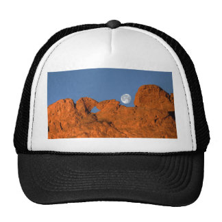 Kissing Camels Rock Formation with Full Moon Trucker Hat