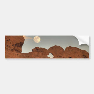 Kissing Camels Under Moon 03 Bumper Sticker
