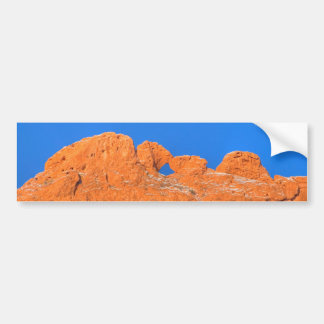 Kissing Camels with Blue Sky Bumper Sticker