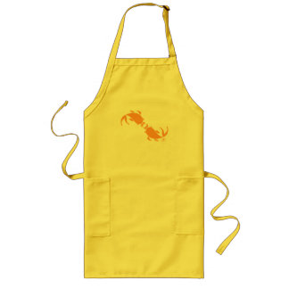 KISSING CARP LONG APRON