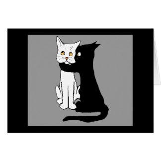 Kissing Cats Greeting Card
