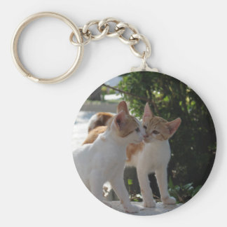 Kissing Cats Keychain
