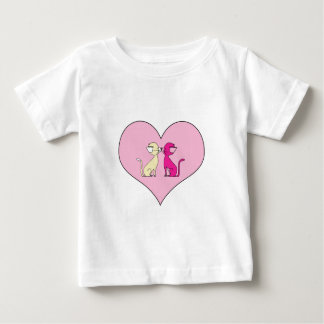 Kissing Cats (Meet the Mews) Baby T-Shirt