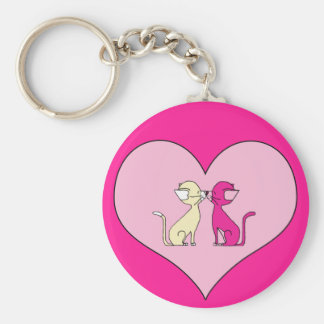 Kissing Cats (Meet the Mews) Keychain
