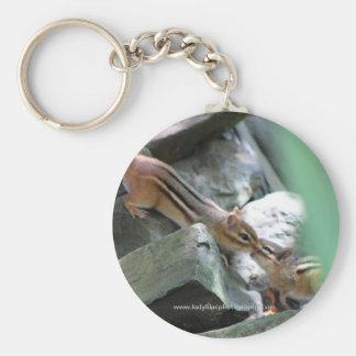 kissing chipmunks keychain