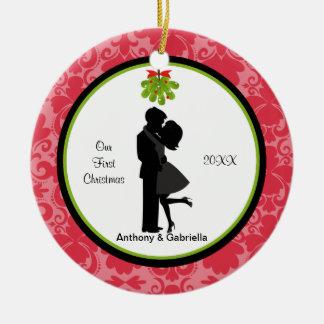 Kissing Couple1st  Christmas Ornament