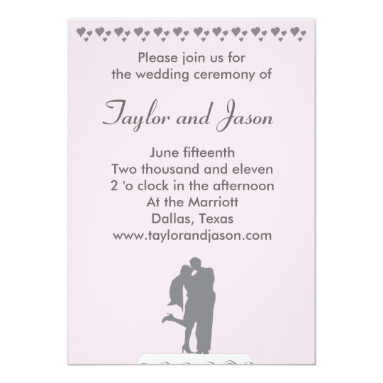 Kissing Couple Cake Topper Wedding Invitation
