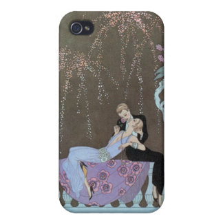 Kissing Couple Deco iPhone 4/4S Case