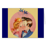 Kissing Couple Greeting Cards