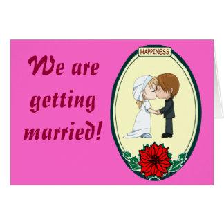 Kissing couple greetings card