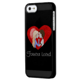 Kissing Couple (in heart) Uncommon Clearly™ Deflector iPhone 5 Case