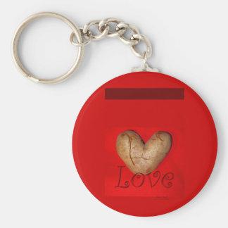 Kissing Couple Love Potato Basic Round Button Keychain