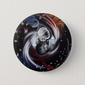 Kissing couple love surreal art Button