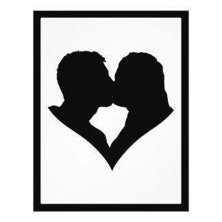Kissing Couple Silhouette Custom Flyer