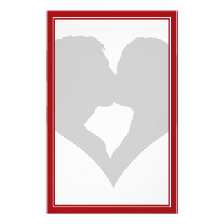 Kissing Couple Silhouette Stationery