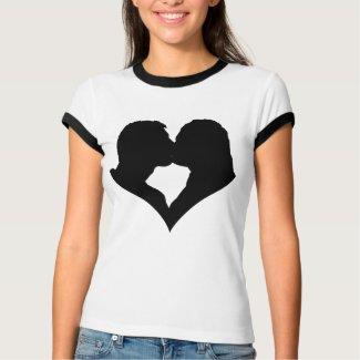 Kissing Couple Silhouette T-Shirt