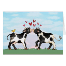 Kissing Cows - Valentine Card