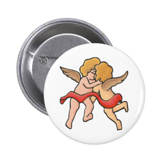 Kissing Cupids Button