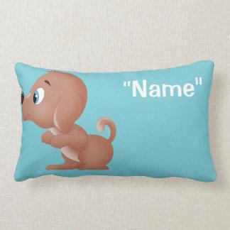 Kissing Dog Boy side Decorative Pillow