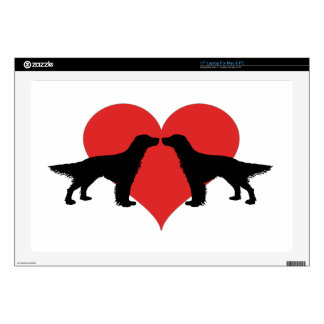 "Kissing dogs decals for 17"" laptops"
