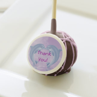 Kissing Dolphin Design FAVORS Thank You Cake Pops!