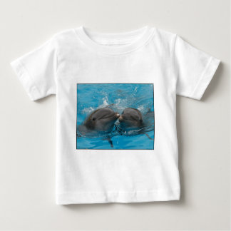 Kissing Dolphins Baby T-Shirt