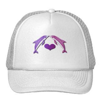 Kissing Dolphins Baseball Hat