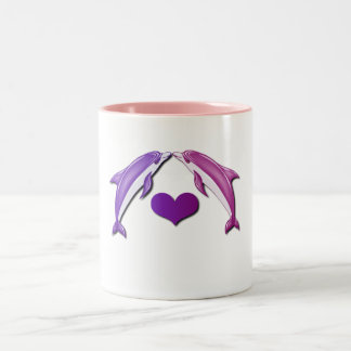 Kissing Dolphins Coffee Mug