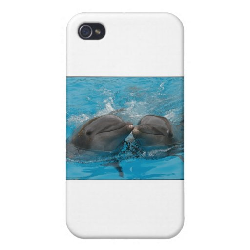 Kissing Dolphins Covers For iPhone 4