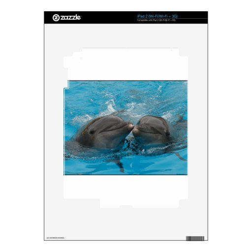 Kissing Dolphins Decals For iPad 2