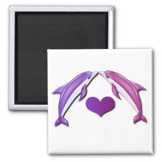 Kissing Dolphins Magnet