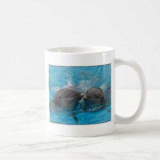 Kissing Dolphins Classic White Coffee Mug