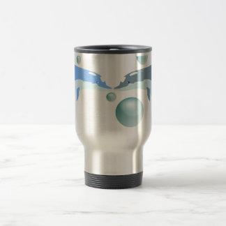 Kissing Dolphins. 15 Oz Stainless Steel Travel Mug