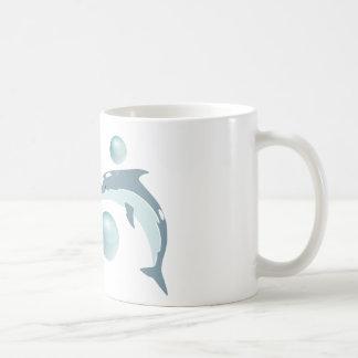 Kissing Dolphins. Classic White Coffee Mug