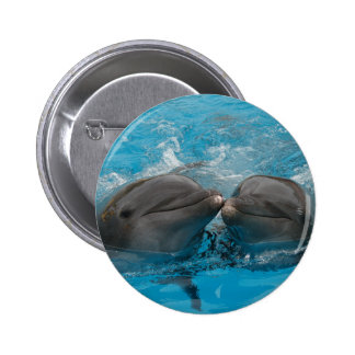 Kissing Dolphins Pinback Button
