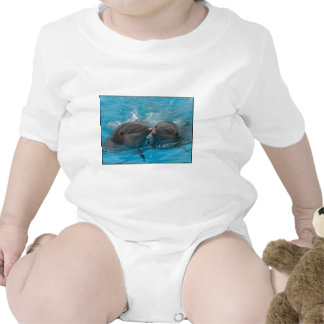 Kissing Dolphins Baby Bodysuit