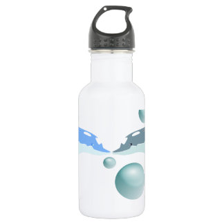 Kissing Dolphins. Water Bottle
