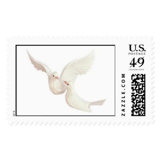"""Kissing Doves"" Postage"