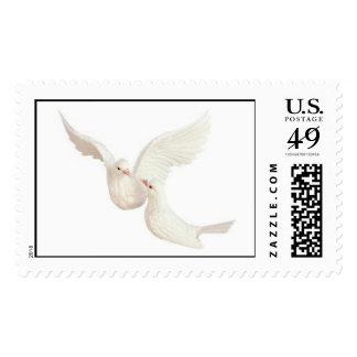 """Kissing Doves"" Postage Stamp"