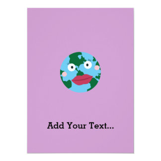 Kissing earth card