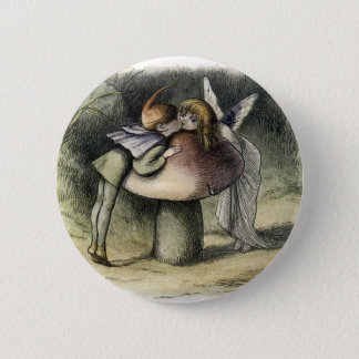 Kissing Faerie and Pixie Button